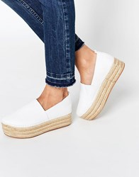 Warehouse Espadrille Flatform Cream