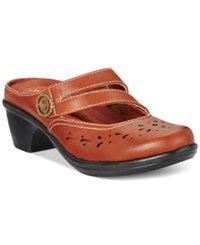 Easy Street Shoes Columbus Mules Women's Tan
