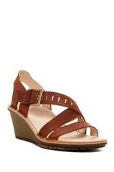 Merrell Sirah Lattice Wedge Sandal Brown