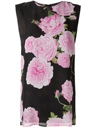 Giambattista Valli Floral Print Top Black