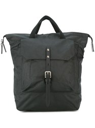 Ally Capellino Buckle Front Backpack Black