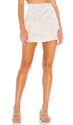 Blue Life Perfect Skort In White. White And Grey Stripe