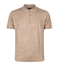 Corneliani Linen Silk Polo Shirt Male