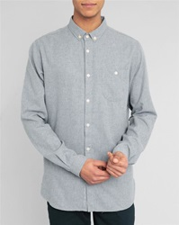 Knowledge Cotton Apparel Grey Flannel Shirt