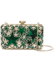 Elie Saab Stars Clutch Bag Metallic
