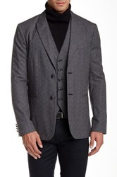 Star Usa By John Varvatos Two Button Wool Sport Coat Gray