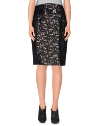 Jo No Fui Knee Length Skirts Black
