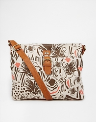 Nica Safari Messenger Cross Body Bag Zebra