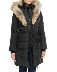 Mackage Kay Layered Fur Collar Puffer Jacket Size M