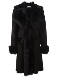 Desa 1972 Wide Lapel Panelled Coat Black
