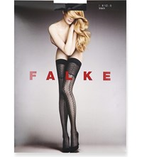Falke Enchanting Filigree Patterned Hold Ups 3009 Black