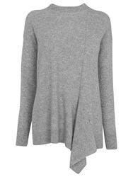 Whistles Cashmere Asymmetric Jumper Grey