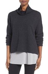 Eileen Fisher Women's Recycled Cashmere And Lambswool Sweater Charcoal