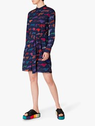 Paul Smith Ps Cheetah Shirt Dress Navy