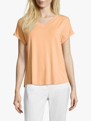 Betty And Co. V Neck Capped Sleeve Top Apricot Wash