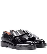 Marni Glossed Leather Loafers Black