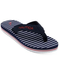 Nautica Fair Water Flip Flops Navy