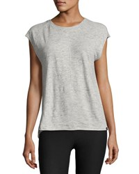 Koral Dismount Cutout Back Muscle Top Light Gray
