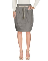 Cappellini By Peserico Knee Length Skirts Grey
