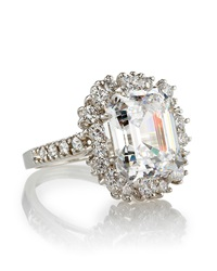 Fantasia Square Cut Cocktail Ring Size 8