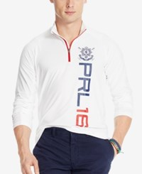 Polo Ralph Lauren Black Watch Half Zip Jersey Pullover White