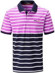 Rlx Ralph Lauren Performance Block Stripe Polo Pink