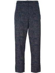 Odeeh Slim Fit Cropped Trousers Multicolour