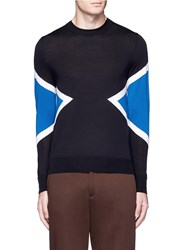 Neil Barrett 'Retro Modernist' Fine Gauge Merino Wool Sweater Black