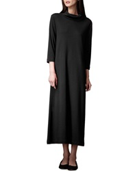 Joan Vass Turtleneck Maxi Dress Black