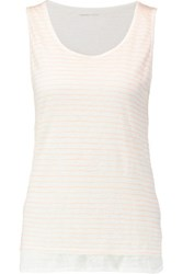 Majestic Striped Linen Tank White