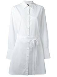 Rag And Bone Elongated Belted Shirt White