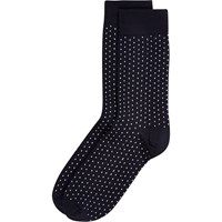 River Island Mens Navy Polka Dot Socks