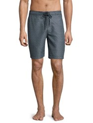 Surfside Supply Stacked Shell Print Board Shorts Grey