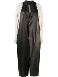 Rick Owens Combined Leather Coat 60