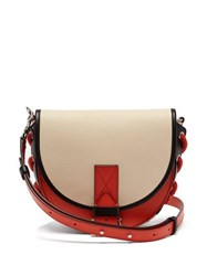 Jw Anderson Bike Leather Cross Body Bag Cream Multi