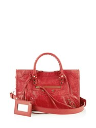 Balenciaga Classic City Small Leather Tote Red