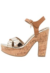 Xti High Heeled Sandals Oro Gold