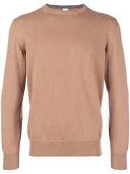 Eleventy Cashmere Sweater Nude And Neutrals