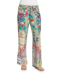 Johnny Was Elleng Printed Drawstring Pants Multi