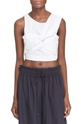 Women's 3.1 Phillip Lim Knot Detail Stripe Crop Tank