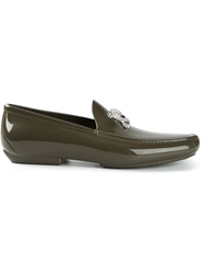Vivienne Westwood 'Skull' Loafers Green
