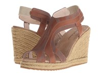 Tommy Bahama Reanna Laser Cognac Women's Wedge Shoes Tan