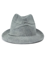Reinhard Plank Creased Trilby Hat Grey