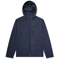 Edifice Memory Twill Stand Hooded Jacket Blue