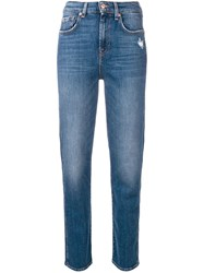 7 For All Mankind High Rise Jeans Blue
