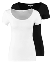 Zalando Essentials 2 Pack Basic Tshirt Black White