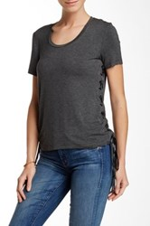 Fate Side Lace Up Tee Gray