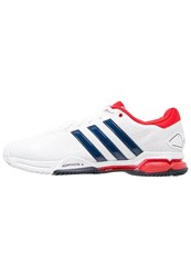 Adidas Performance Barricade Club Outdoor Tennis Shoes White Collegiate Navy Vivid Red