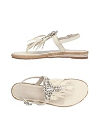 Apepazza Toe Strap Sandals Ivory