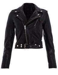 Blk Dnm Black Cropped Leather Jacket 1